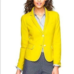 NWT GAP Academy Blazer in Lemon Yellow Pique